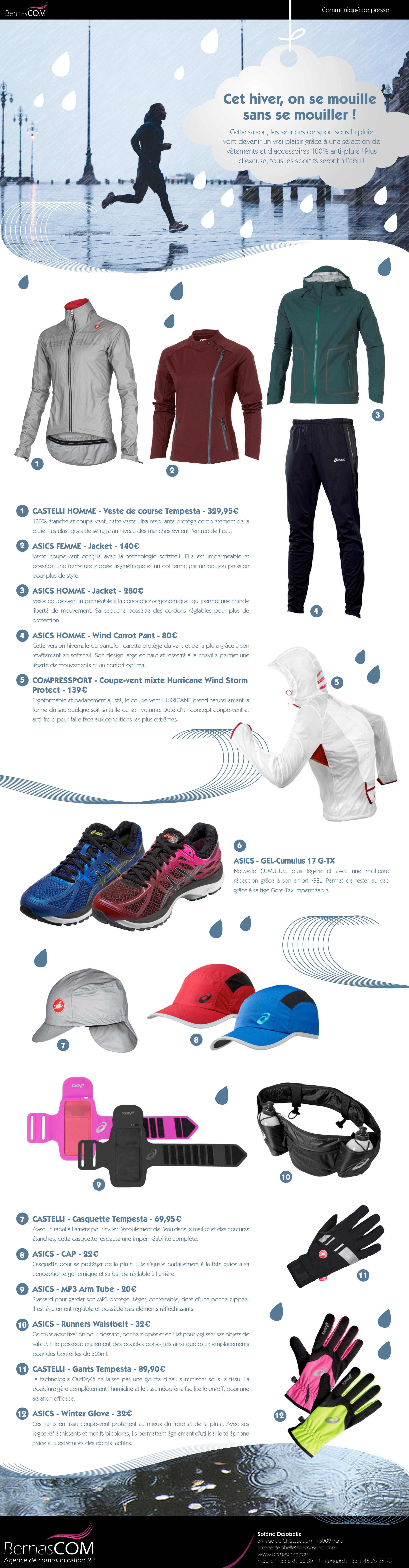 Vêtement de sport pluie